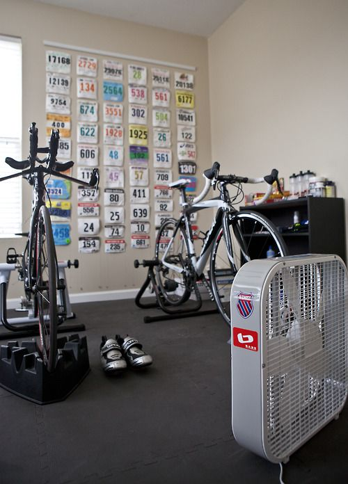 A couple updates to the workout room since the fall - now time to pick up the training!