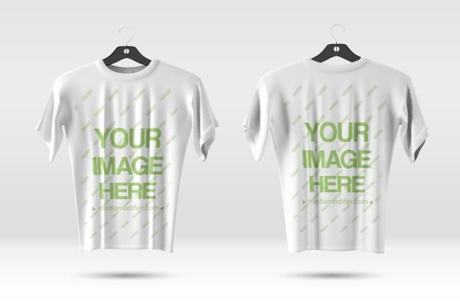 Download Show Off The Front And Back Side Of You T Shirt Designs Online Mockup With 2 Shirts On Plastic Hangers Customize Clothing Mockup Shirt Mockup Shirt Template