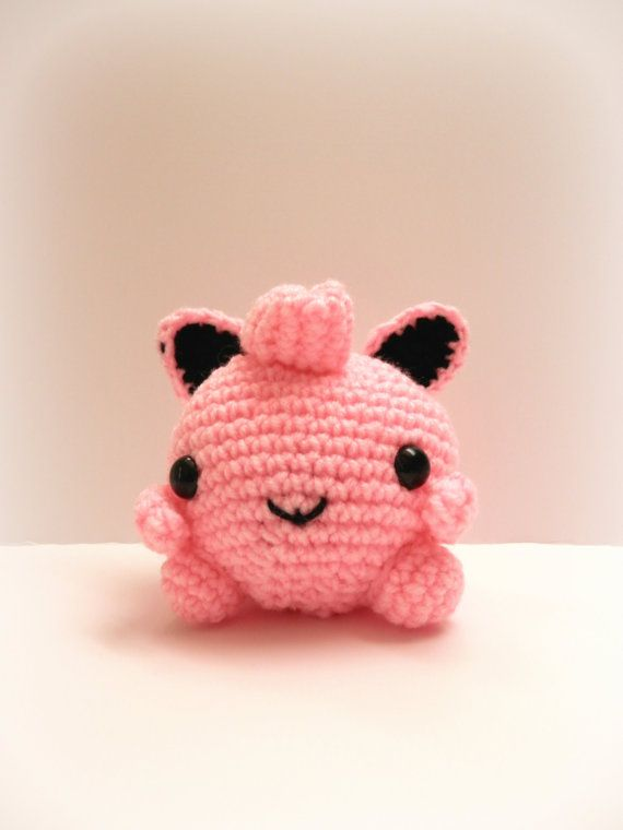 Crochet JigglyPuff Inspired Chibi Pokemon by MissJennysCrochet