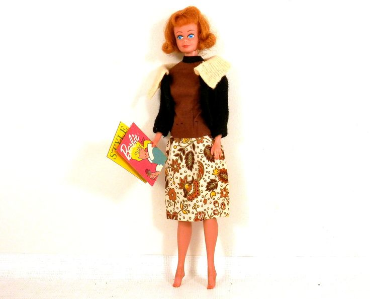 Barbie Black & Cream Fashion Pak Sweater with Homemade Skirt/Blouse Magazines