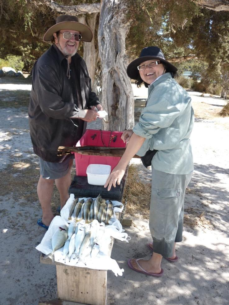 Results of fishing down south (Augusta) http://www.wanowandthen.com/fishing.html