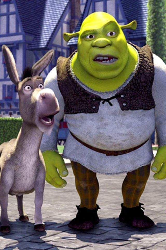 Mobilewallpaper Iphone Pic Ipod Donkey Shrekmovie Shrek Movie Animation Mobilewallpapers Cute Cartoon Wallpapers Shrek Disneyland Pictures