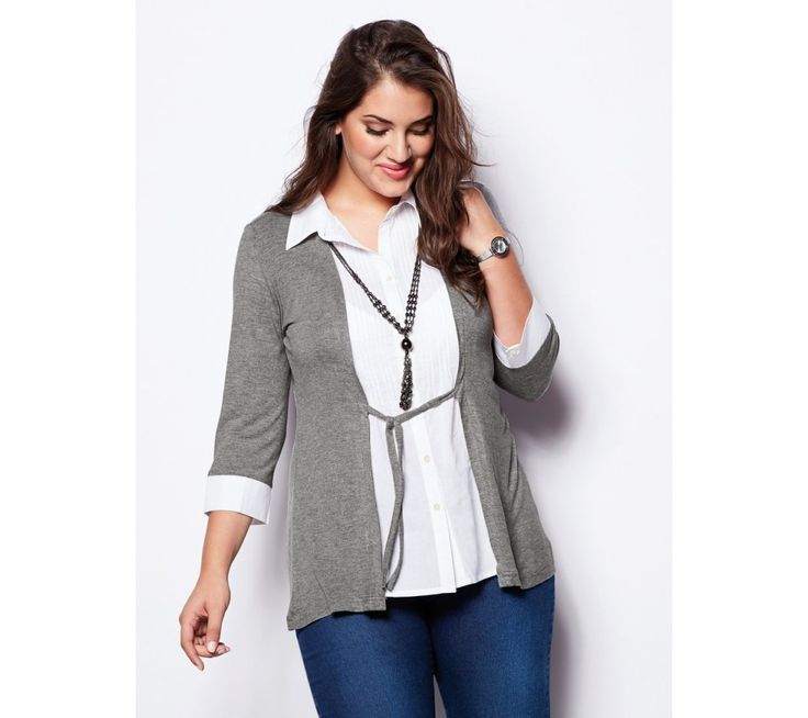 Tričko s efektom 2 v 1 a náhrdelníkom | modino.sk #ModinoSK #modino_sk #modino_style #style #fashion #bluzka #tunika #kosela