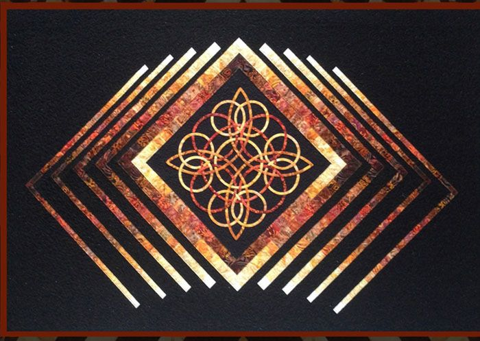 Celtic Diamond Quilt Pattern KWA-7007 (advanced beginner, lap and throw)