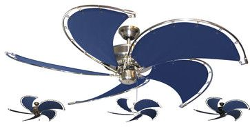 Blue Nautical Ceiling Fans eclectic-ceiling-fans