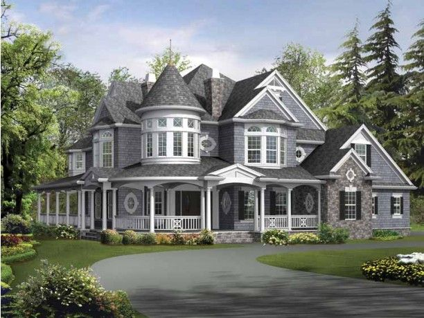 "Forget all of the others.  This is the dream house.  The big change is adding a basement for the ""sports (man) cave"", but I love it....  So perfect... Mix of country and victorian styles.  AHHH!"