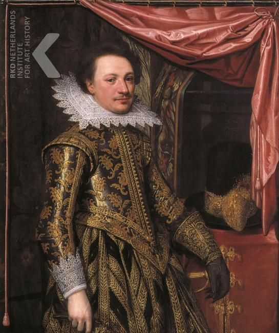 Jan Anthonisz. van Ravesteyn, portrait of an Officer, probably Reinoud van Brederode (1597-1618) - signed and dated 1617, Gemeente Vianen