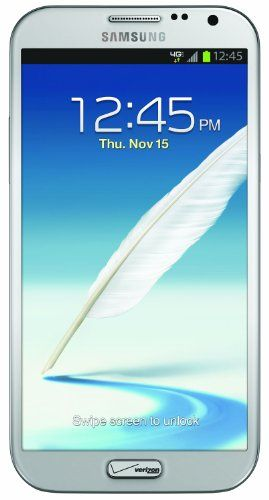 Mobile Phones + Service Plans + Wireless Accessories | National Phone » Samsung Galaxy Note II 4G Android Phone, Marble White (Verizon Wireless)