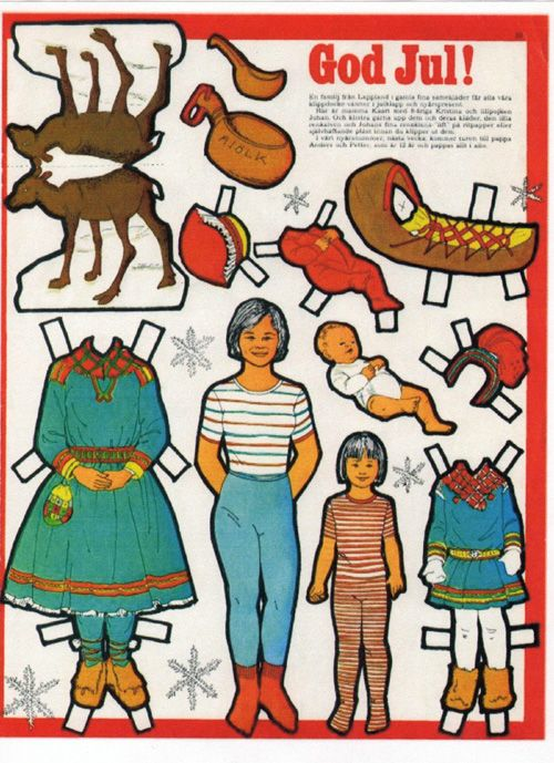 LAPLAND PAPER DOLL