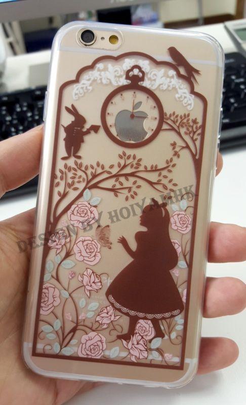 Ultra Thin Disney Princess Transparent TPU Soft Case For iPhone 5/5S/ 6/ 6 Plus