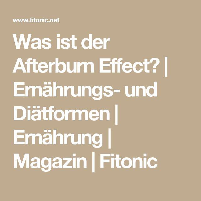 Was ist der Afterburn Effect? | Ernährungs- und Diätformen | Ernährung | Magazin | Fitonic