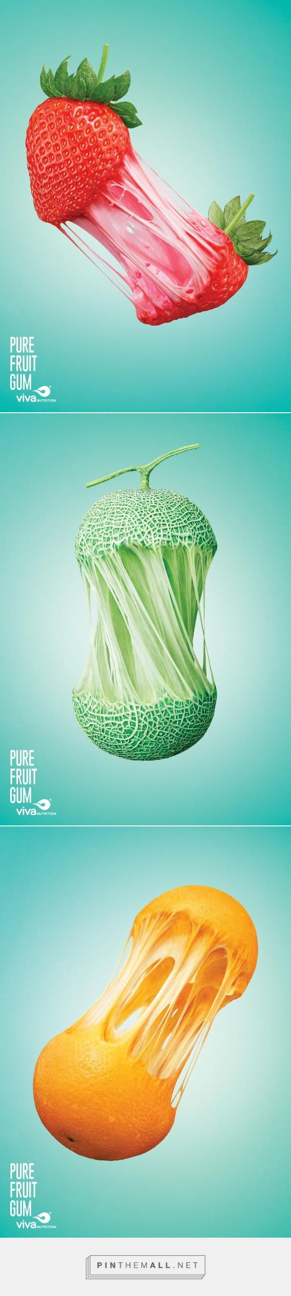 Viva Nutrition: Pure Fruit Gum Print Ads - great ads - created via https://pinthemall.net