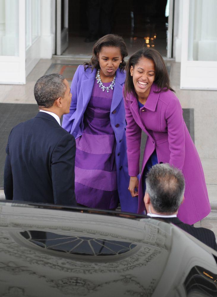 Sasha And Malia Obama Ace Holiday Dressing At Turkey Pardoning (PHOTOS)