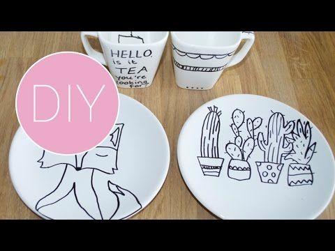 DIY porselein versieren - YouTube