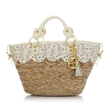 IMAN Global Chic Luxury Resort Straw Handbag