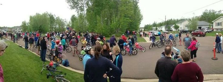 Bike/ walk rally for kids in Moncton's neighborhood where shooting and capture took place. To take back our neighborhood and give kids back their courage!  #monctonstrong
