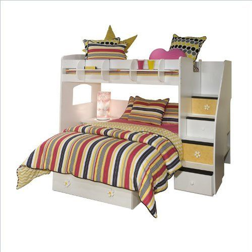 Berg Furniture Utica Twin Over Full Loft Bunk Bed with