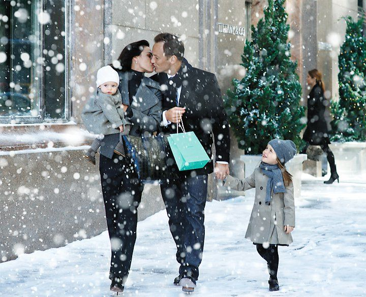"""""""A celebration of the joy of true love, the warm embrace of family and the magic of the season in New York, the striking scenarios were shot by renowned photographer Peter Lindbergh and feature models Doutzen Kroes and Inés Sastre as well as motion picture star Patrick Wilson and actor Neal Bledsoe."""" (2010)"""
