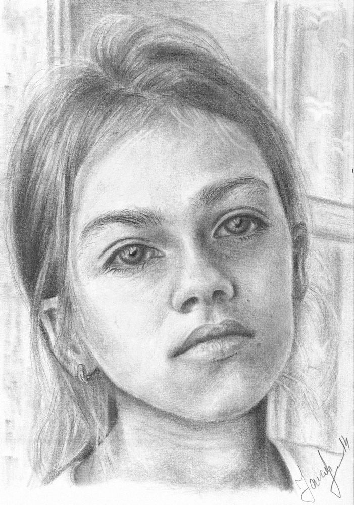 A5 Custom original drawing portrait from your photo #Realism