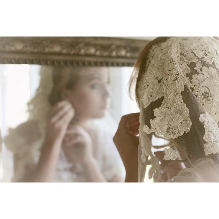Bridal Cap Mantilla Veil By Ericaelizabethdesign