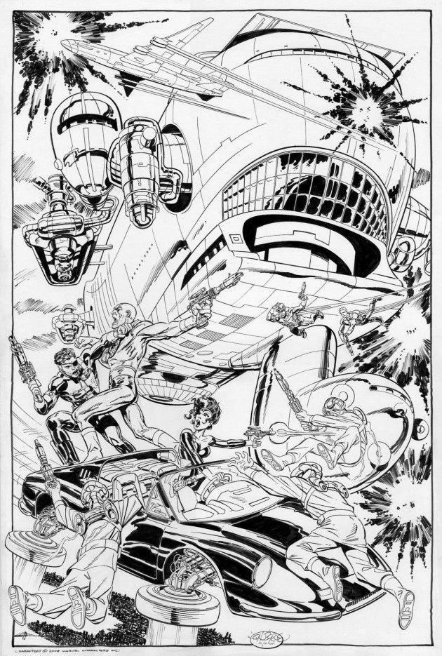 Nick Fury and Shield vs. Baron Von Strucker and Hydra by John Byrne