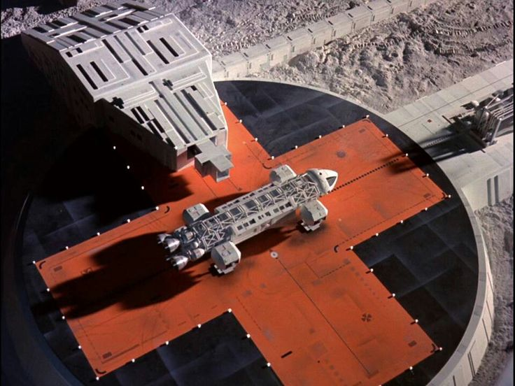 Eagle 1 landing on pad at moon base alpha (conceptualization)