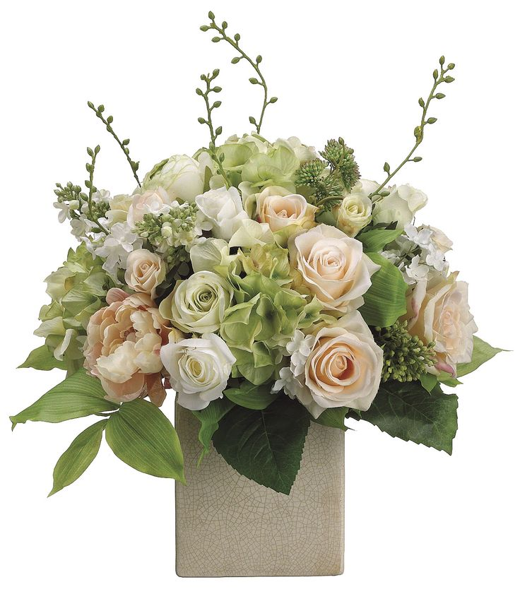 Bloom Room Luxe 19'' Peony, Rose & Hydrangea In Ceramic-Pink | Floral Arrangement | Online Only Product