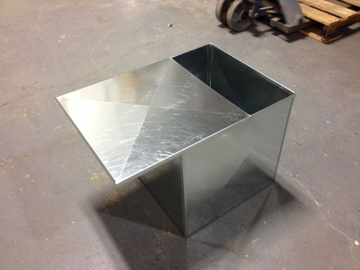 Custom 24 Gauge Sheetmetal Ash Box With Sliding Top Cover