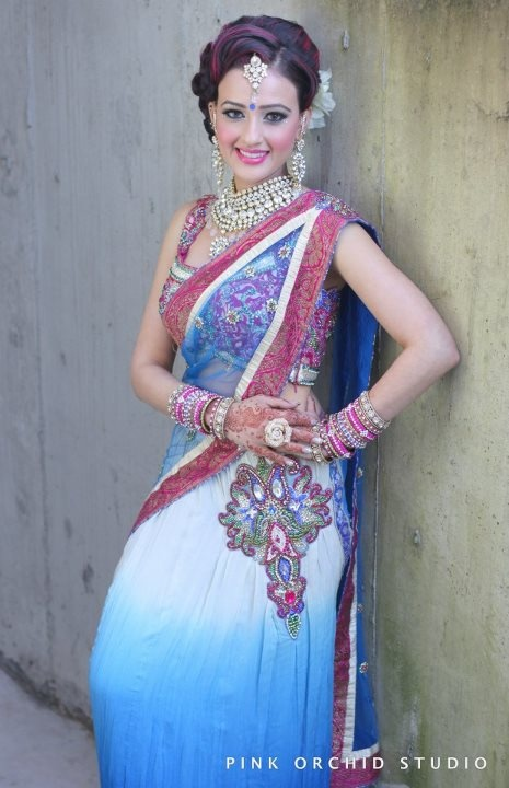 Colourful Indian Bride!  Find more inspiration on our website @ http://www.modernrani.com/posts/2012/9/pink-orchid-studio-part-one
