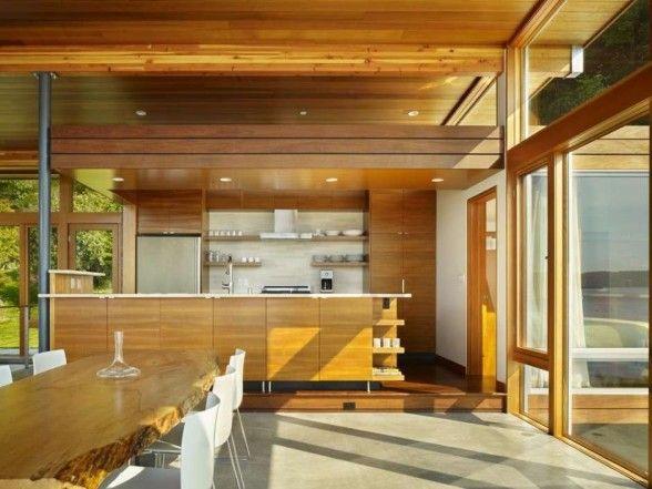 Vashon Island Cabin Kitchen Interior