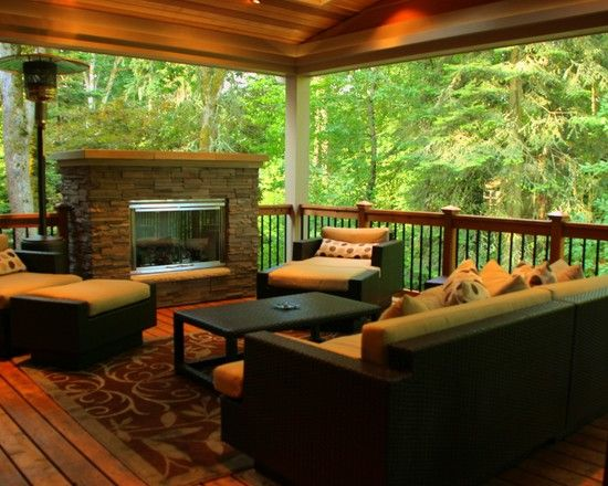 22 best images about deck ideas on pinterest covered for Covered porch flooring options
