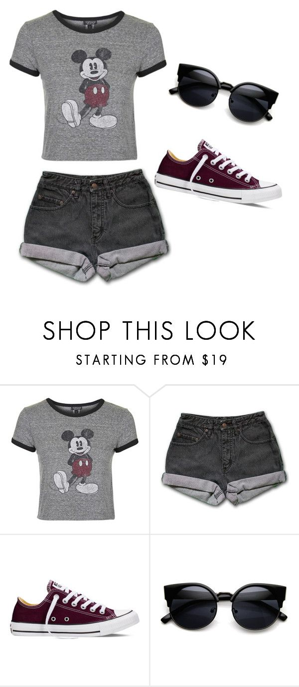 """Dark Disney"" by cristinaramos2298 ❤ liked on Polyvore featuring Topshop, PèPè and Converse"