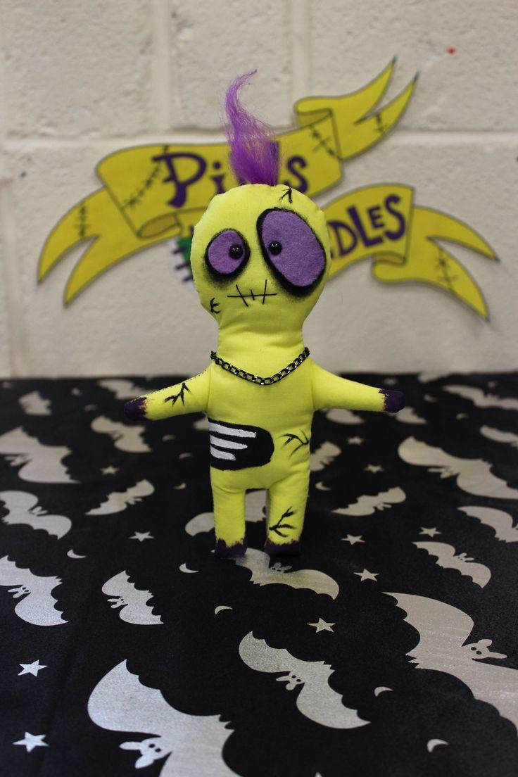 Purple Zombie Doll, Creepy Cute, Spooky Cute, Scary Doll, Gothic Art Doll, Horror Gift, Zombie Gift, Gothic Homeware, Gothic Doll, Monster by Pinsandneedlesdolls on Etsy https://www.etsy.com/listing/524704137/purple-zombie-doll-creepy-cute-spooky