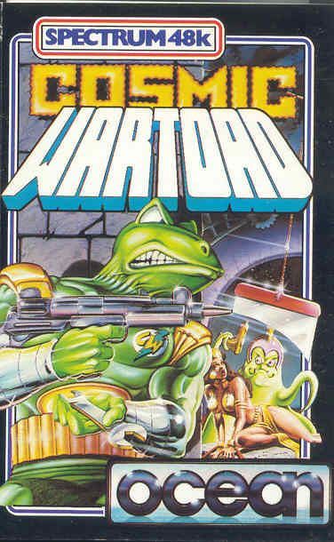 Cosmic Wartoad ZX Spectrum Front Box Cover