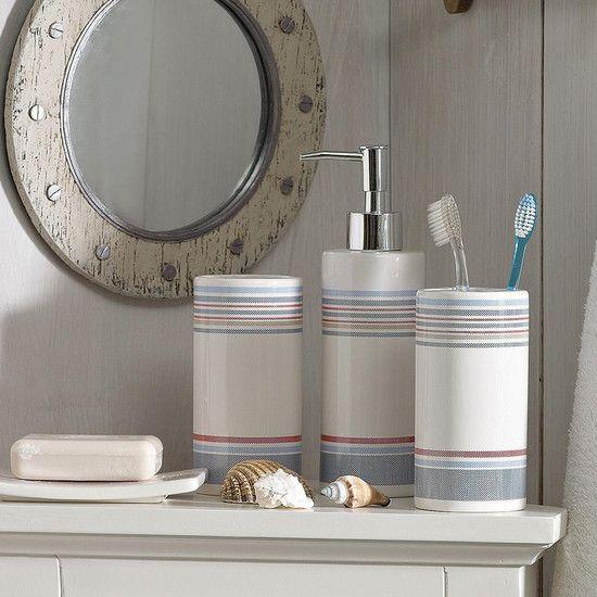 Hamptons Bathroom Dunelm Pinstriped Decor CollectionsMirrors