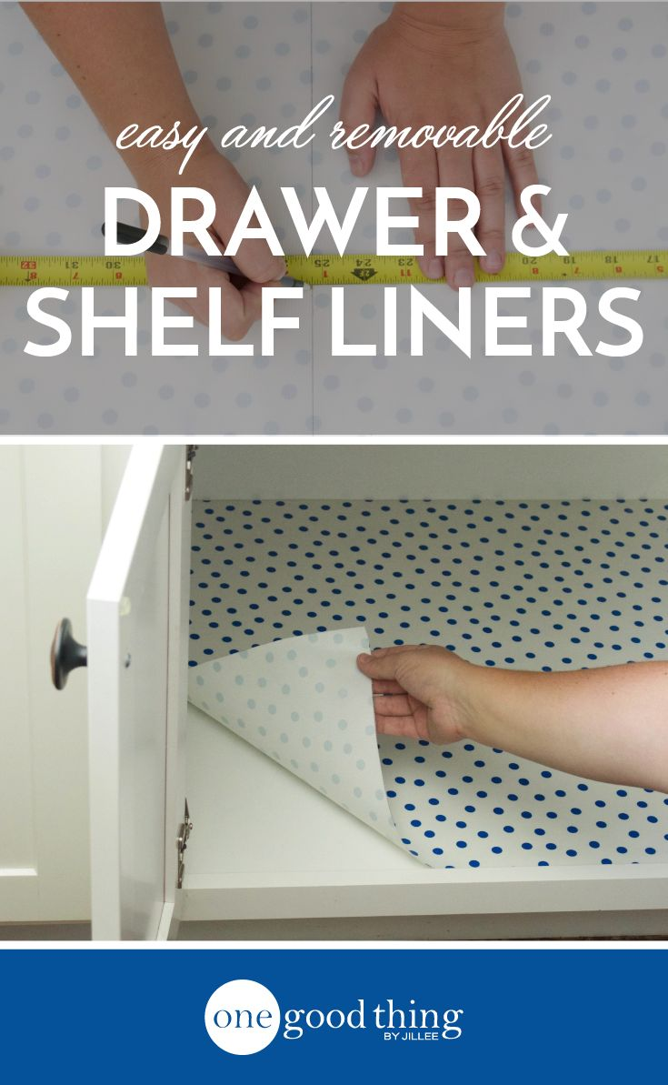 Drawer and shelf liners are an easy way to freshen up the look of your kitchen. Learn how to make your own liners using easy-to-clean oilcloth!