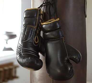 Leather Boxing Gloves #potterybarn