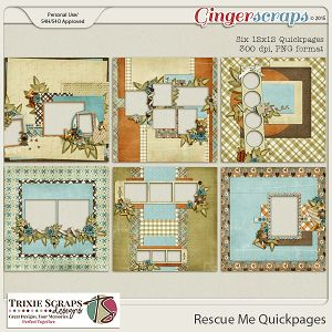 Rescue Me Quickpages by Trixie Scraps Designs