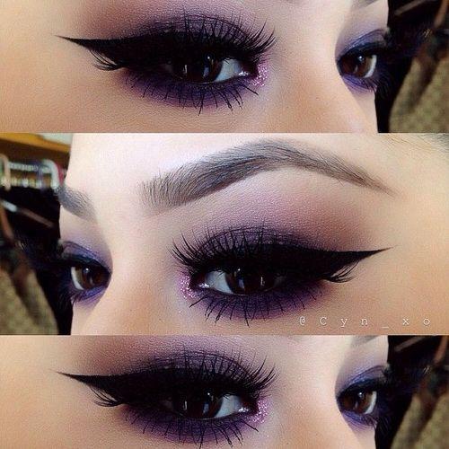 Simple Eye Makeup For Goth Styles - Eye Makeup Design