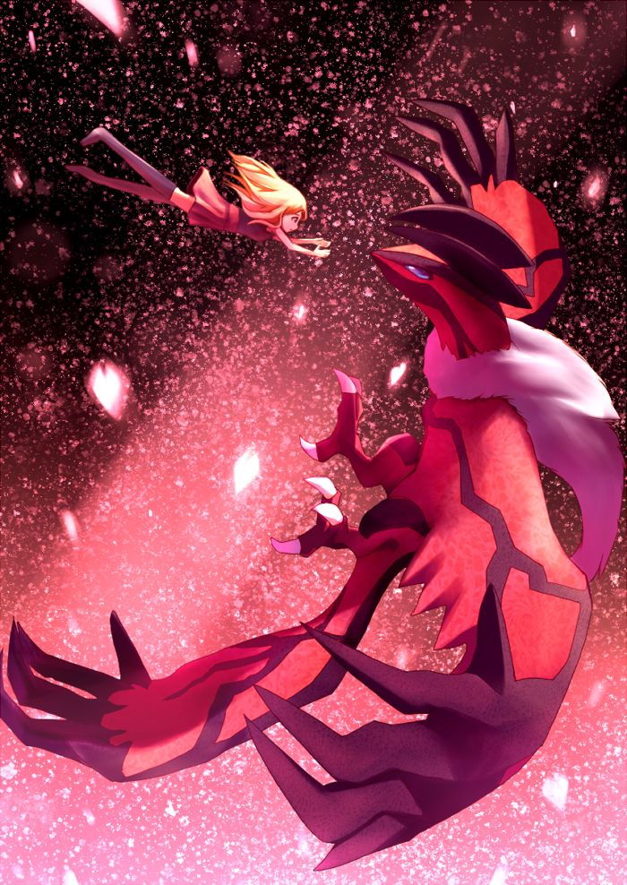 This is me and my Yveltal, Death Wing. I became his friend whenever he hatched from his cocoon. He is very loyal. Though he may look scary, he is really a sweetheart. He cares about other dark and flying type pokemon, and he protects flying types from harm.