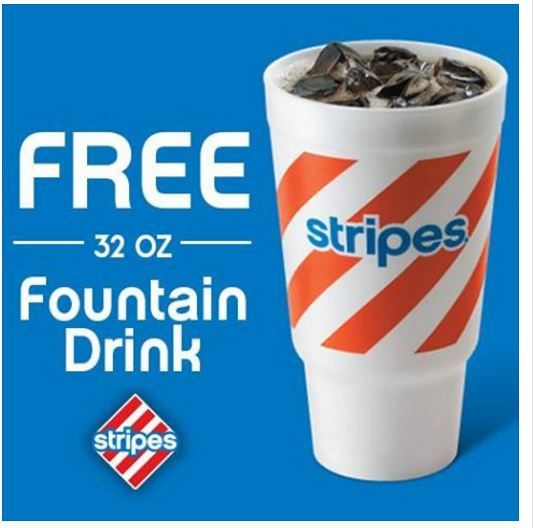 FREE 32 oz Fountain Drink at Stripes Convenience Stores on 3/7/16 and 3/8/16 ONLY. - http://gimmiefreebies.com/topic/free-fountain-drink-at-stripes-convenience-stores-3716-3816/