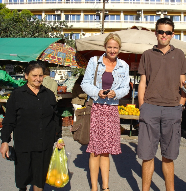 op de markt in Aghios Nikolaos
