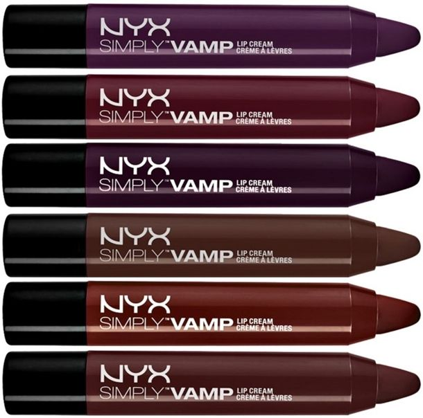 Get your inner goth girl or guy out to play with these new NYX Simply Vamp Lip Cream for Fall 2014  This stunning shades of vampy berries and purples make