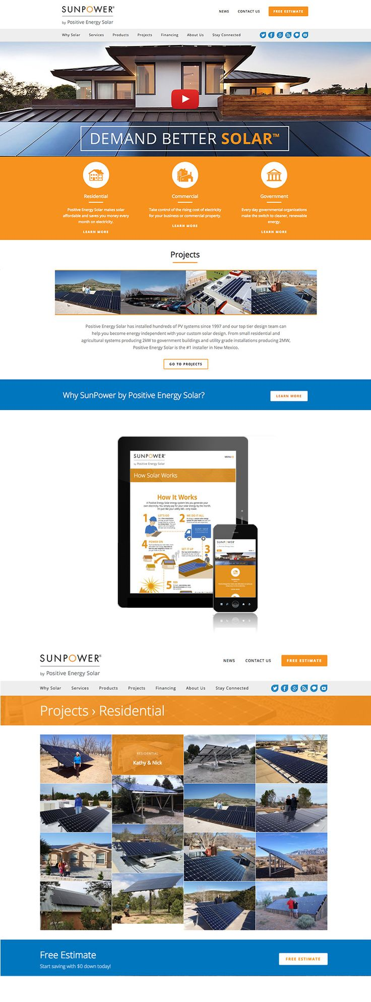 Building and promoting websites for solar companies is our specialty.   Xynergy is proud to announce the Sunpower by Positive Energy Solar website has won the 2016 Silver Davey Award for the Green/Eco Friendly category.