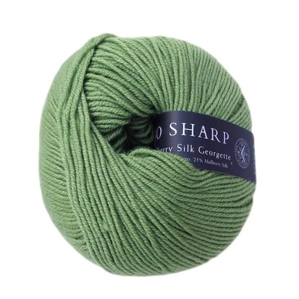 Mulberry Silk Georgette, luxurious Merino wool and silk knitting yarn, 50g, Pea - I Wool Knit - 1