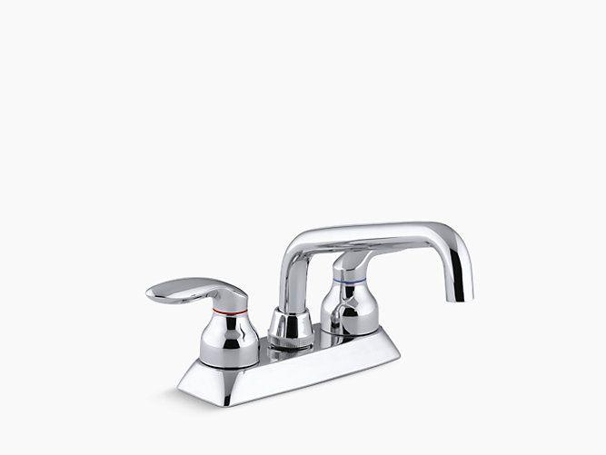 Coralais Utility Sink Faucet with Lever Handles   K-15270-4   KOHLER