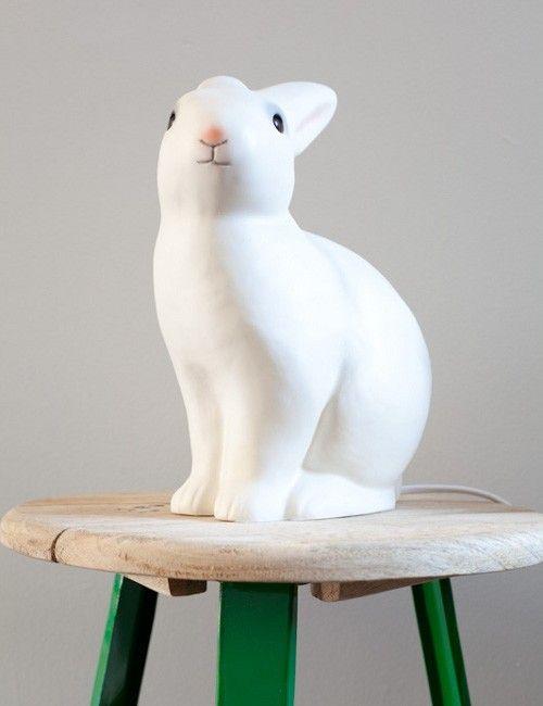 Kitsch Resin Rabbit Lamp at rose & grey, Childrens lamps