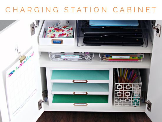 Family Charging Station Cabinet Iheart Organizing Our