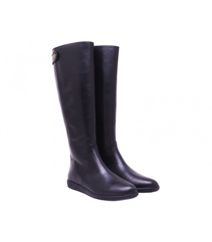 LEATHER BOOTS DESIGNER LOU A COMFORABLE AND SMART CHOICE FOR ALL-DAY WEAR. WITH ZIP FASTENING AT BACK.
