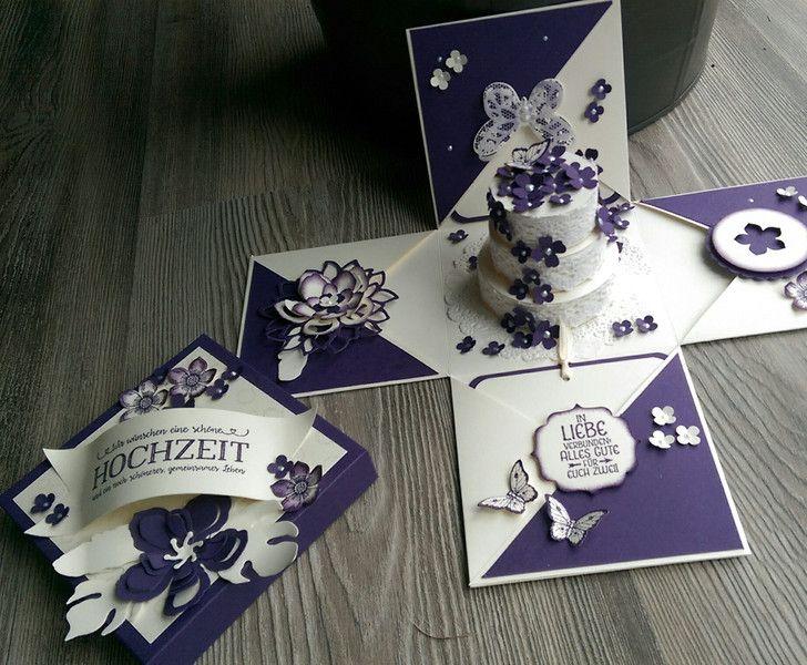 Geldgeschenke - Explosionsbox zur Hochzeit,NEU, Individualisierbar - ein Designerstück von Mein-Kreativpoint bei DaWanda